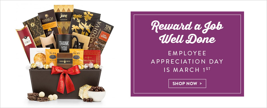 Reward a Job Well Done. Employee Appreciation Day is March 1st