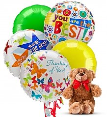 Balloons & Bear: Thinking of You Balloons & Bear-5 Mylar